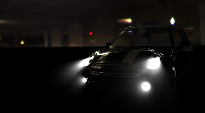 Mini Exterior: Dark Car Park